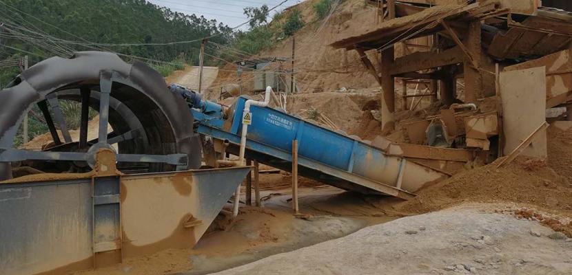 广西贵港时产80方风化石洗沙生产线